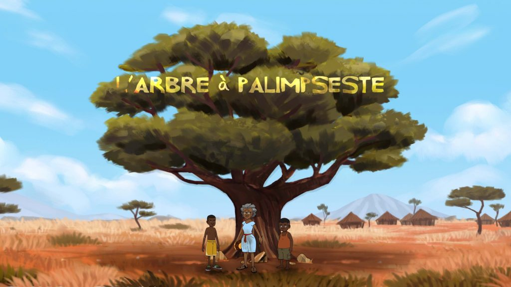 A screenshot from the second pilot of L'arbe à Palimseste image courtesy of Ingrid Agbo