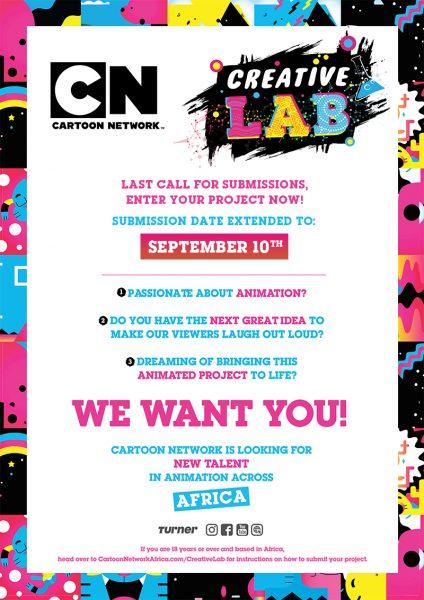 Cartoon Network Africa Creative Lab DEADLINE Extension