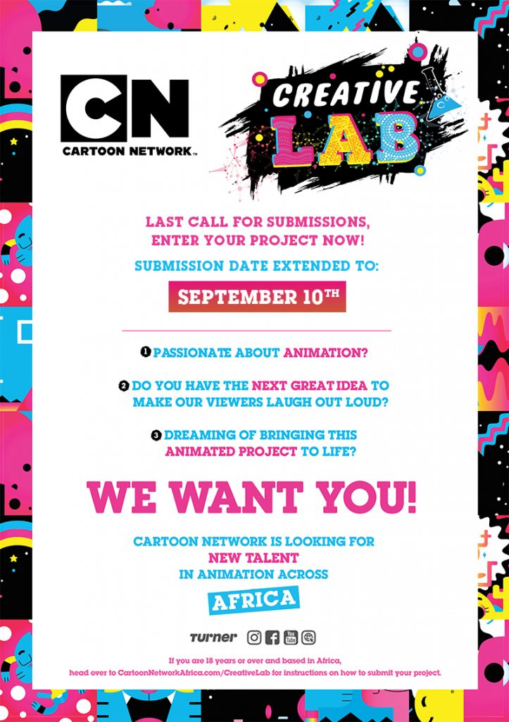 Cartoon Network Africa Creative Lab DEADLINE Extension