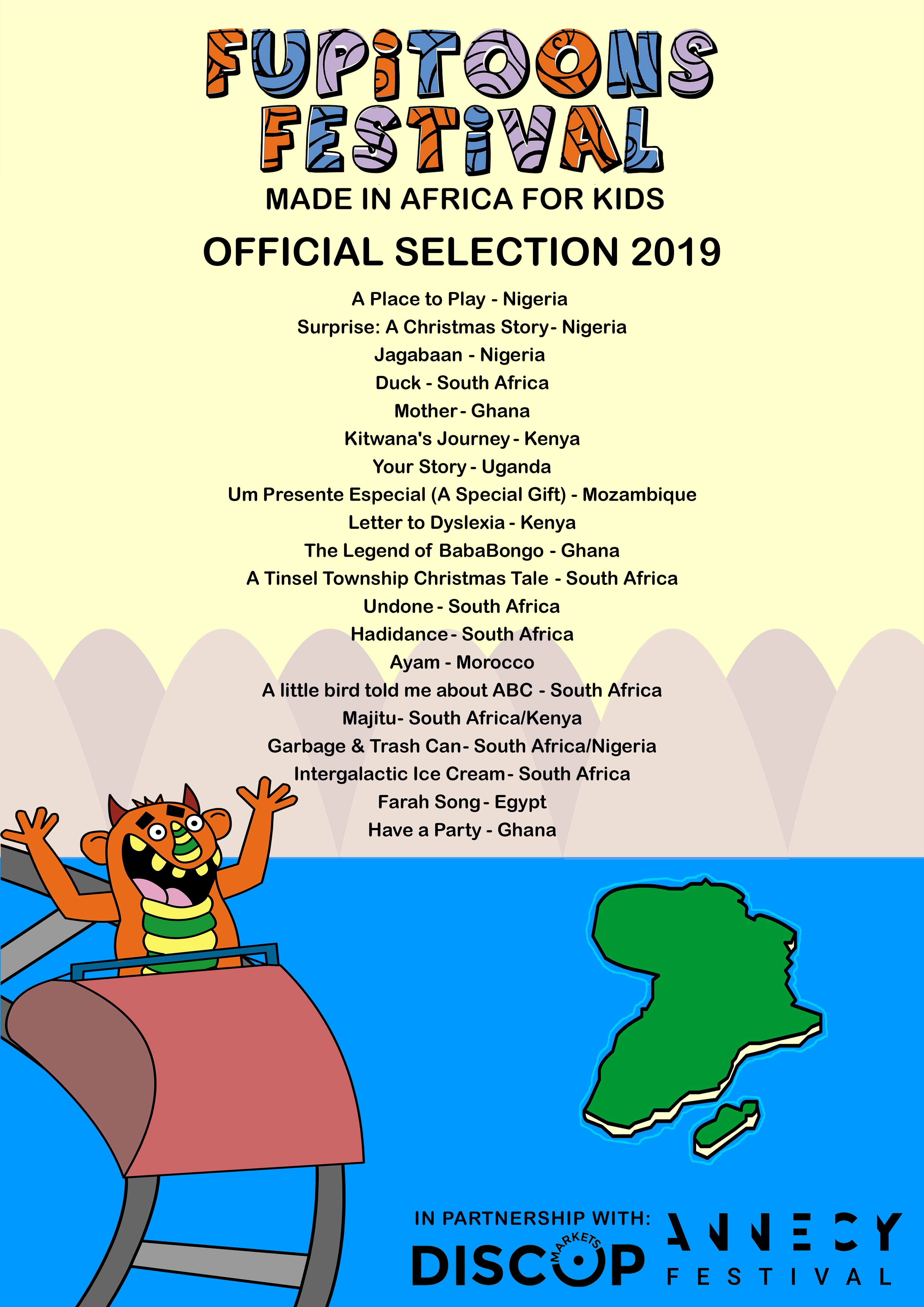 FUPiTOONS FESTiVAL 2019 OFFICIAL SELECTION